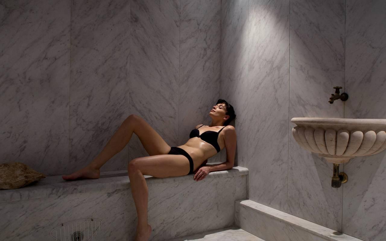 Luxury Sauna and steam room, Luberon hotel, Les Bories hotel