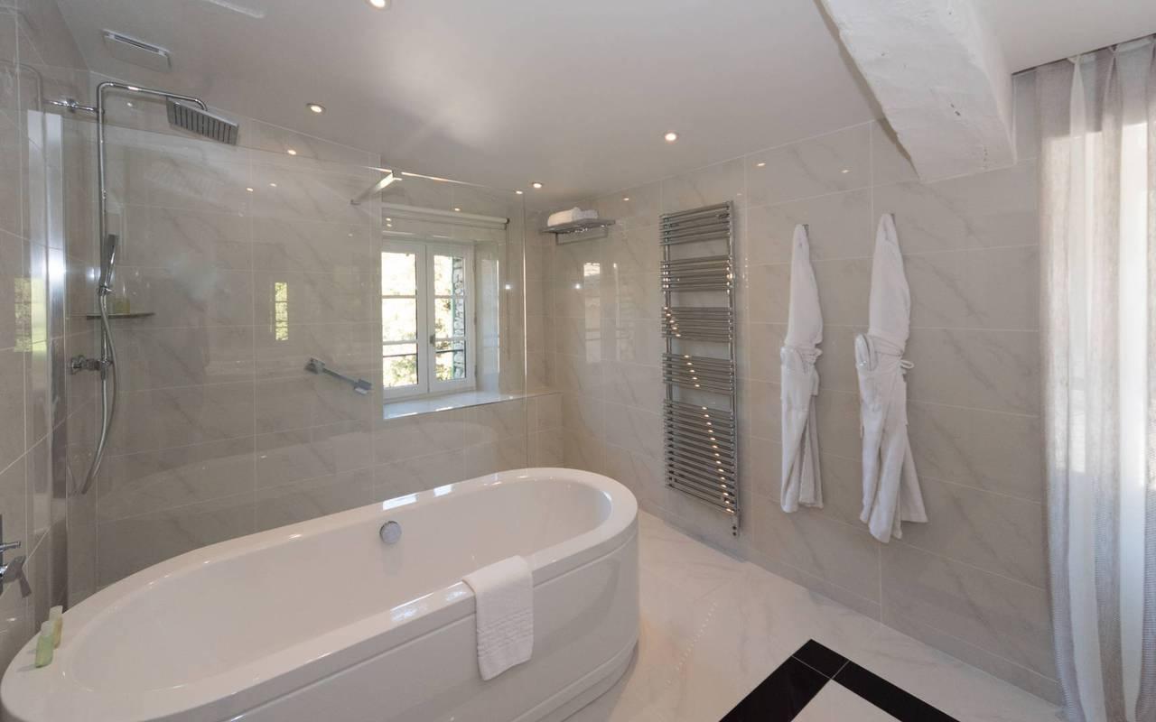Chambre moderne et chic hôtel de luxe à Gordes