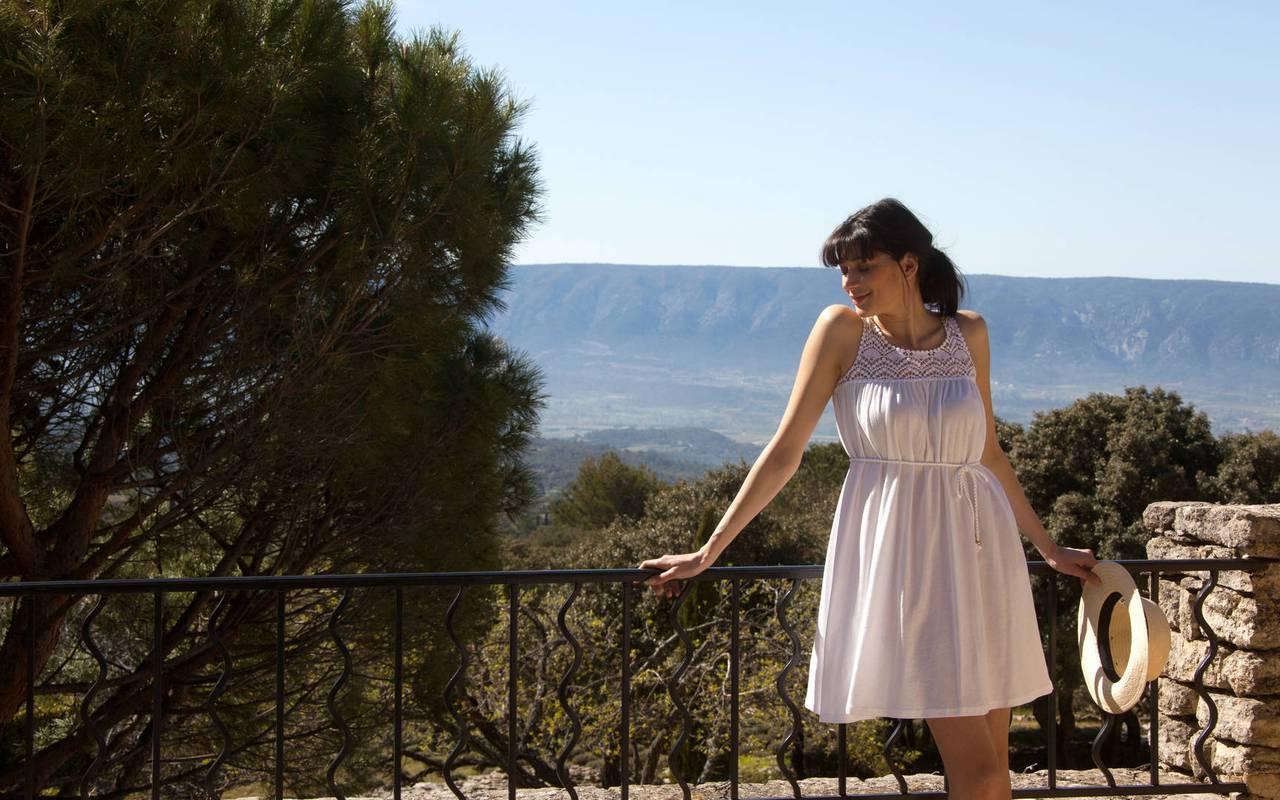 Terrasse avec une vue splendide hôtel de charme en Provence