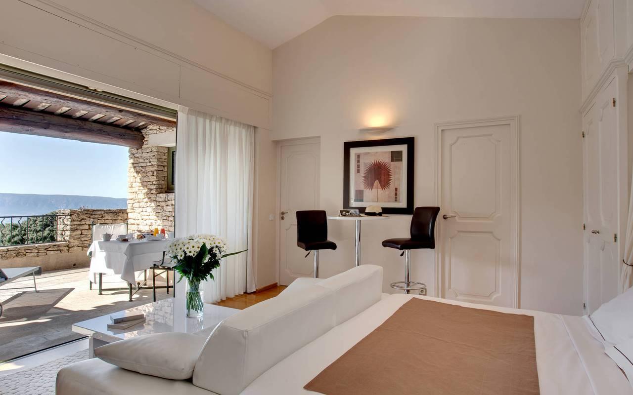 Chambre avec vue incroyable hôtel de charme en Provence
