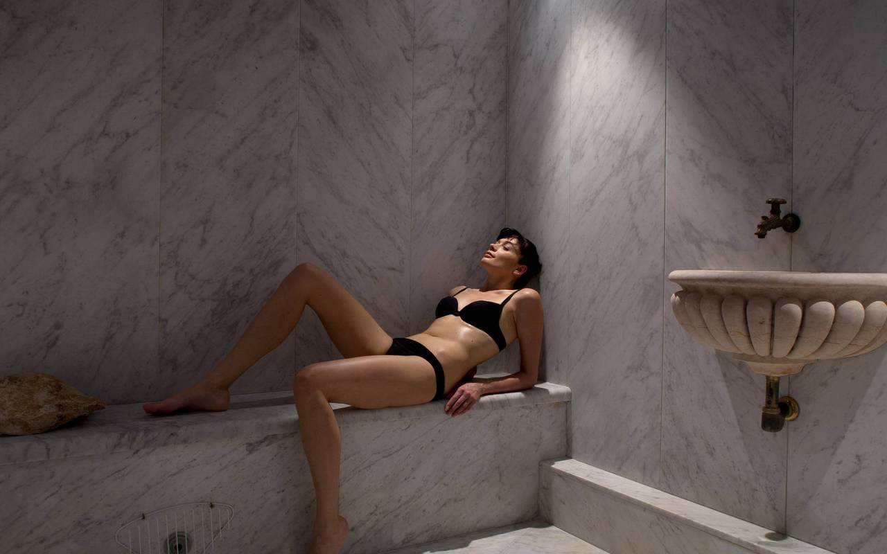 Sauna et hammam de luxe, hôtel de luxe dans le Luberon, hôtel Les Bories