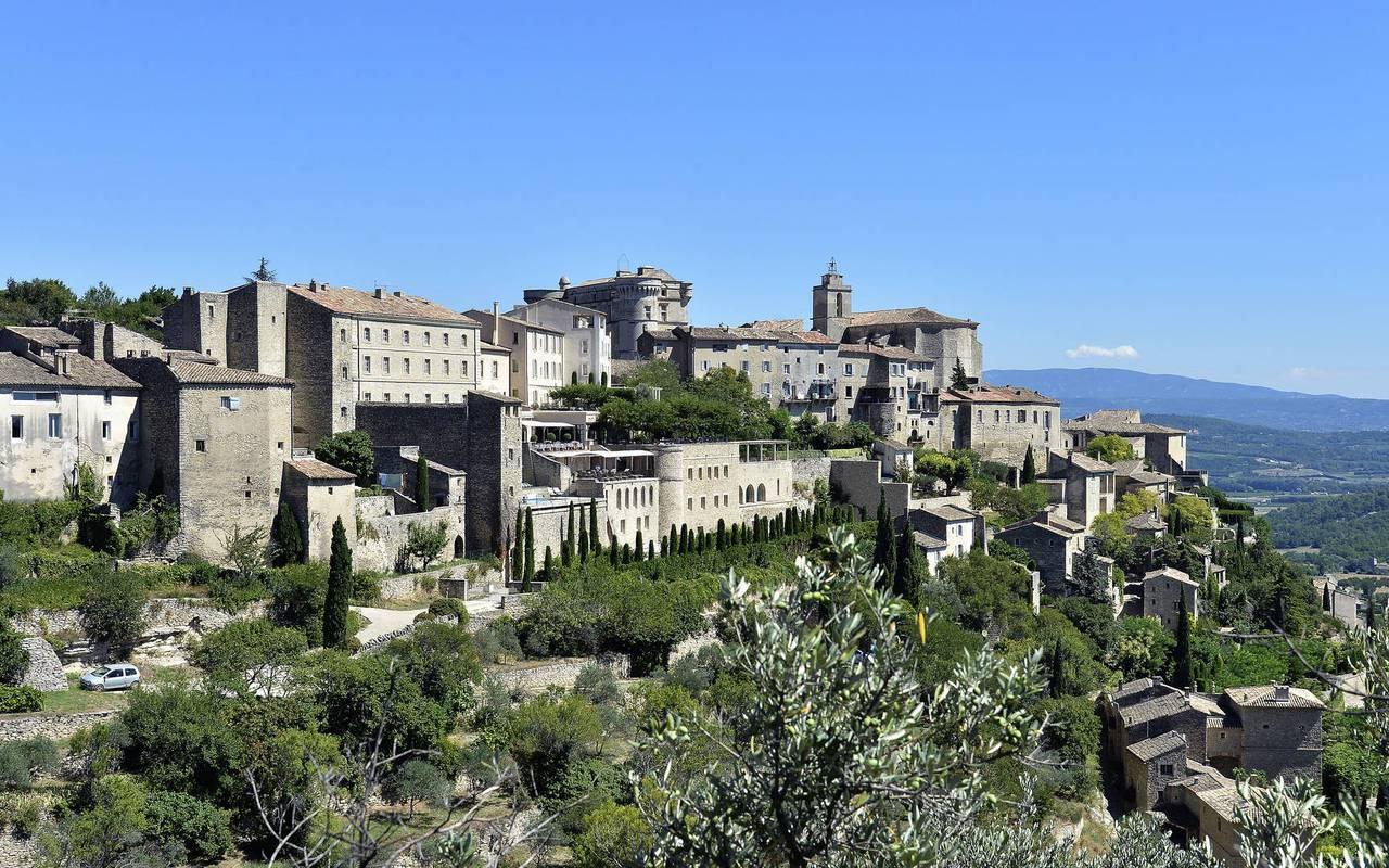 Hôtel de luxe Les Bories avec paysages merveilleux de Provence
