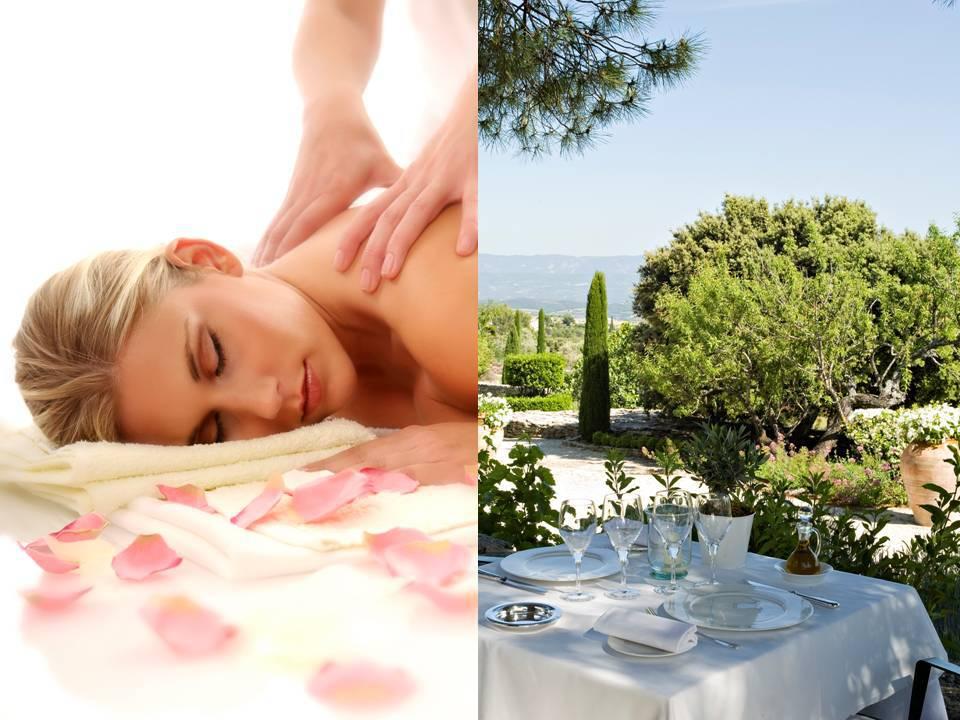 Massage et déjeuner, hôtel spa Provence, Hôtel Les Bories